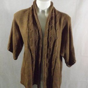 Womens 89th & MADISON Cardigan - Brown - Sz M